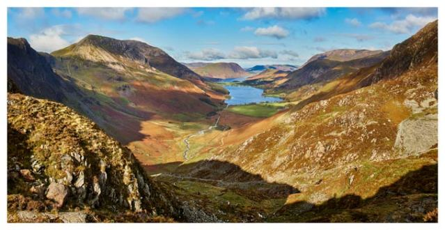 The Buttermere Valley Autumn Sunshine - Lake District Print