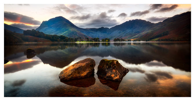 Buttermere Rocks - Lake District Print