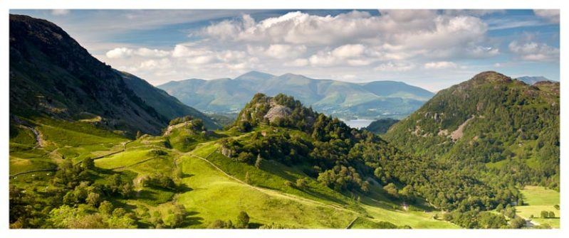 Castle Crag Summers Afternoon - Lake District Print