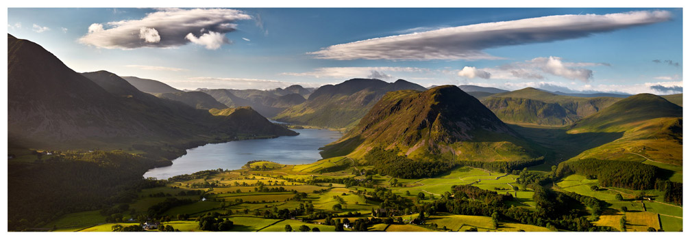 Morning Sunshine on Crummock Water - Lake District Print