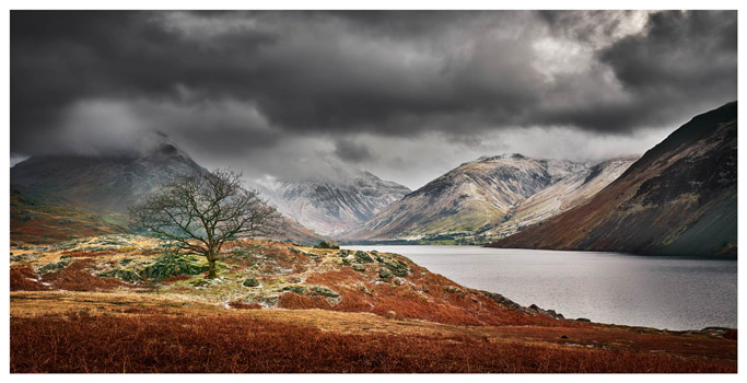 Winter Colours of Wast Water - Lake District Print