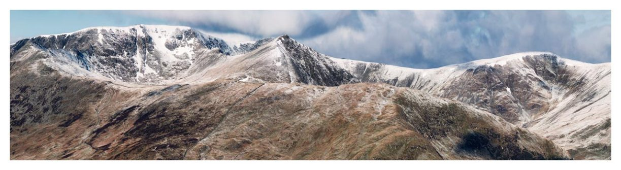 Helvellyn Mountains Panorama - Lake District Print