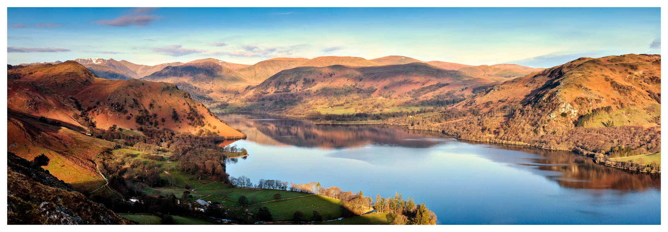 Morning Light on Ullswater - Lake District Print