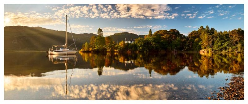 Brandelhow Point Reflections - Lake District Print