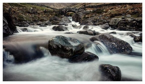 Grains Gill and Stockley Bridge - Lake District Print