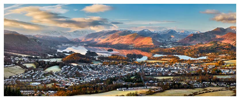 Keswick in the Morning Sunshine - Lake District Print