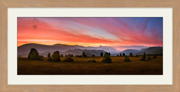 Dawn Skies Over Castlerigg - Framed Print with Mount
