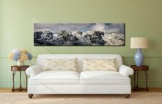 Crinkle Crags Winter Panorama - Lake District Canvas on Wall