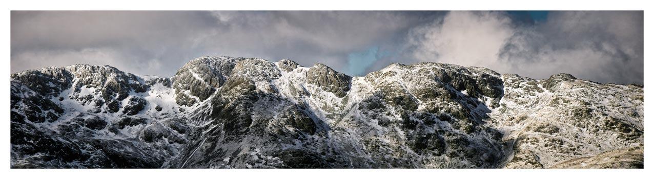 Crinkle Crags Winter Panorama - Lake District Print
