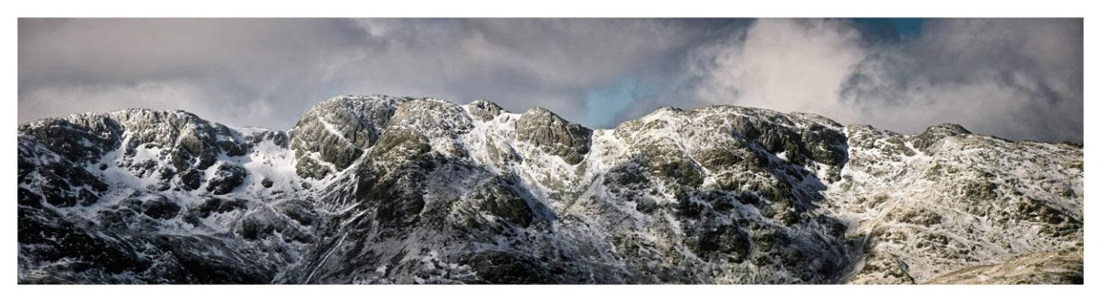Crinkle Crags Winter Panorama - Lake District Print