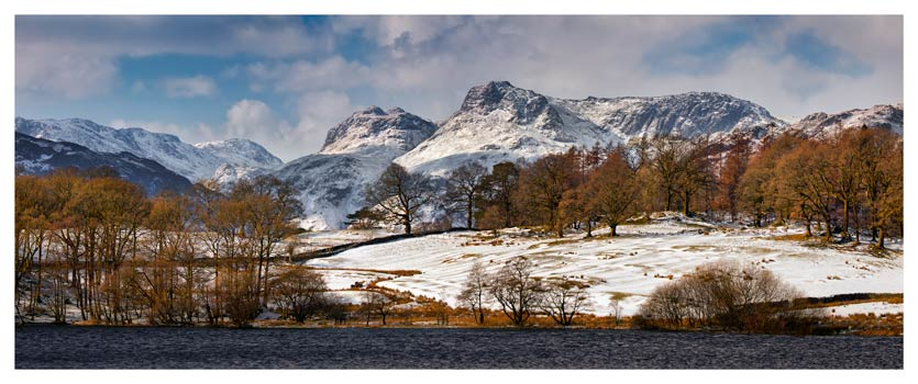 Loughrigg Tarn Winter View - Lake District Print