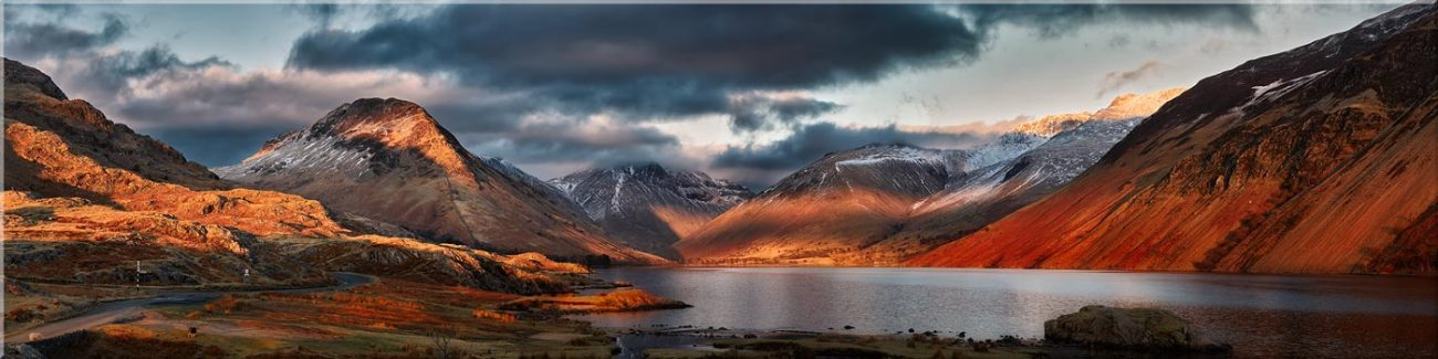 Winter Sun Over Wast Water - Canvas Prints
