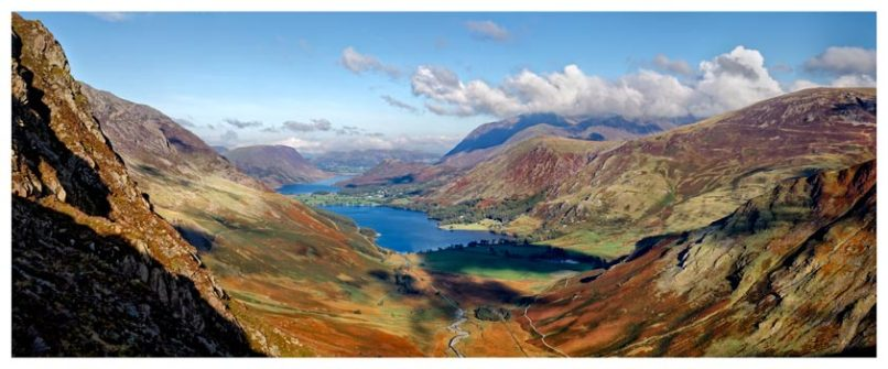 Buttermere Valley Green Crag - Lake District Print