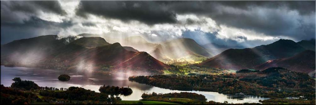 Sunbeams Over the Derwent Fells - Canvas