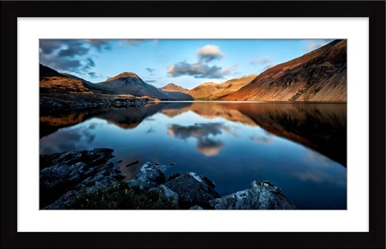 Golden Winter Sunlight Over Wast Water - Framed Print