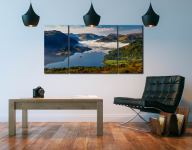 Glenridding Under the Clouds - 3 Panel Wide Centre Canvas on Wall