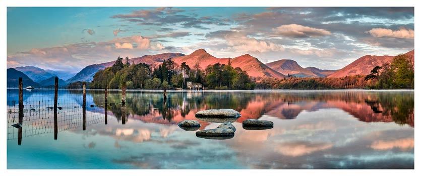 Derwent Isle Calm Dawn - Lake District Print