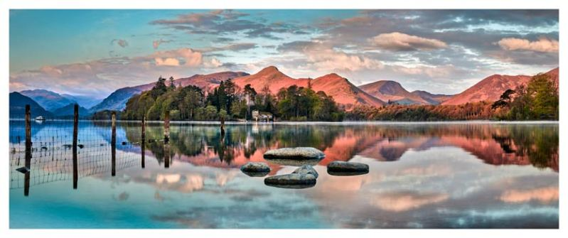 Derwent Isle Calm Dawn - Lake District Print