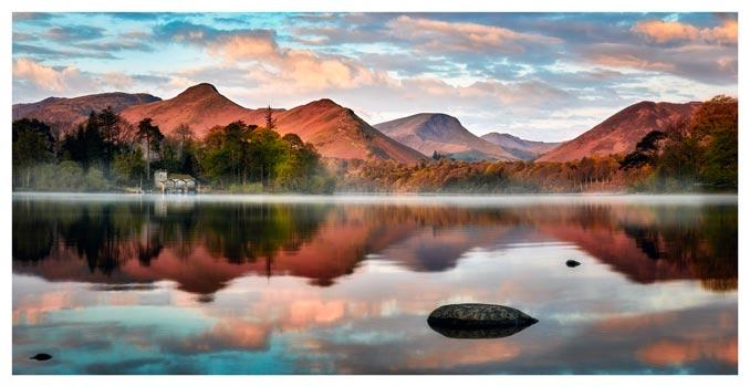 Cat Bells Red Dawn - Lake District Print