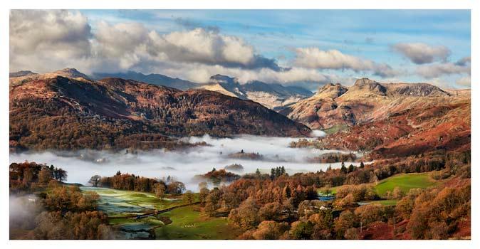 Autumn Morning in Langdale - Lake District Print