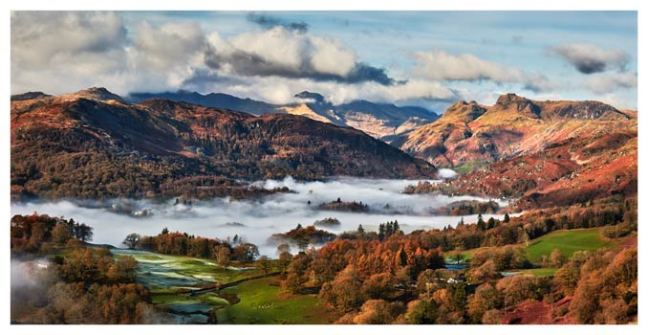 Autumn Morning in Langdale - Lake District Print