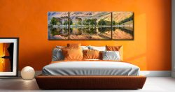 Golden Dawn Buttermere - 3 Panel Wide Mid Canvas on Wall