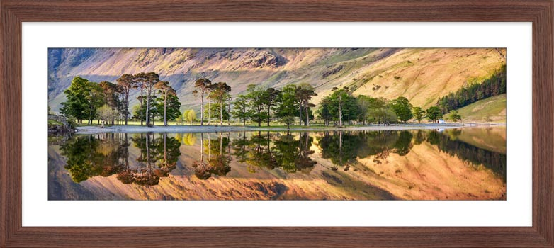 Golden Dawn Buttermere - Framed Print with Mount