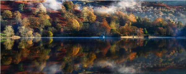 Rydal Water in Autumn - Canvas Print