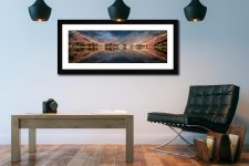 The Buttermere Bowl - Framed Print with Mount on Wall