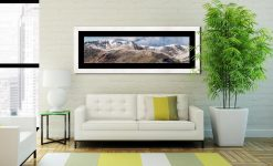 Helvellyn Mountains Panorama - Framed Print with Mount on Wall