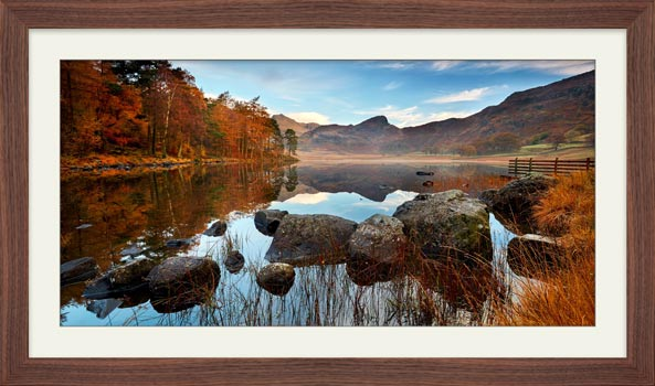 Golden Autumn Blea Tarn - Framed Print