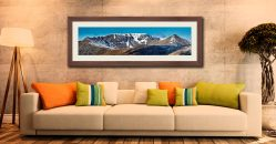 Helvellyn Snow Capped - Framed Print with Mount on Wall