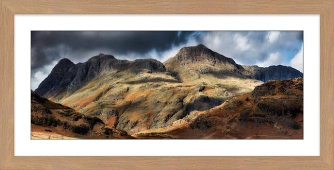 The Langdale Pikes - Framed Print