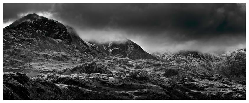 Scafell Mountains in Winter - Lake District Print