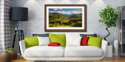 Green and Pleasant Land - Framed Print with Mount on Wall