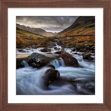 Stockley Bridge Grains Gill - Framed Print with Mount