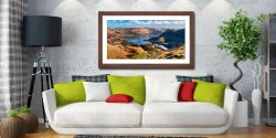 Ullswater From Harrison Crag - Framed Print with Mount on Wall