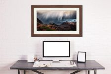 The Rains are a Coming - Framed Print with Mount on Wall