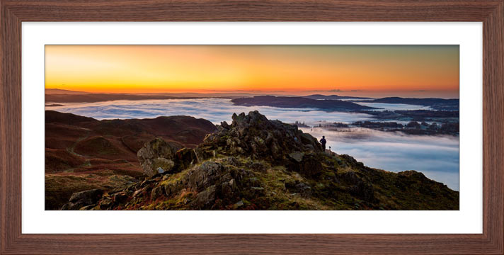 Watching the Dawn - Framed Print with Mount