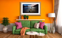 Wast Water Rock - Framed Print with Mount on Wall