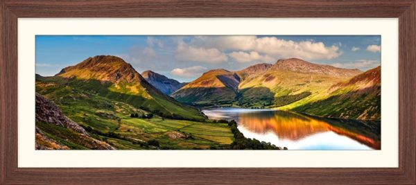 Wast Water in the Evening Sun - Framed Print with Mount