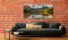 The Greens of Buttermere - 3 Panel Canvas on Wall