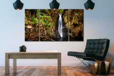 Stanley Ghyll Force Gorge - 3 Panel Canvas on Wall