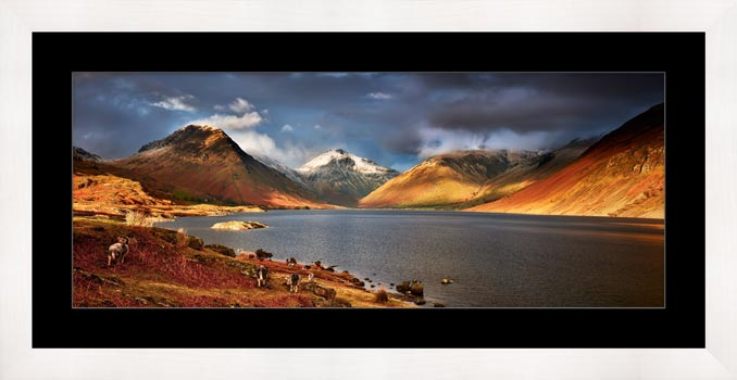 Warm Sunlight on Wasdale Head - Framed Print