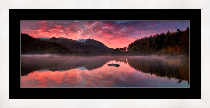 Thirlmere Autumn Sunrise - Framed Print