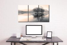 Morning Mists at Brothers Water - 3 Panel Canvas on Wall