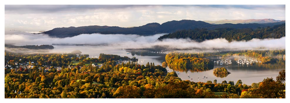 Windermere Morning Mists - Lake District Print