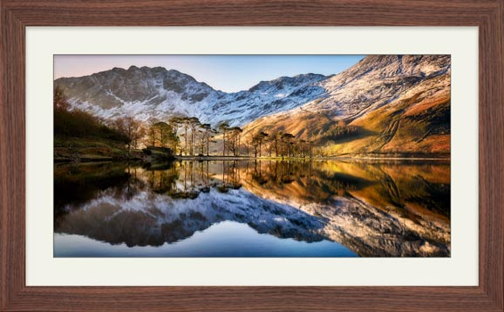 Winter Reflections Buttermere - Framed Print