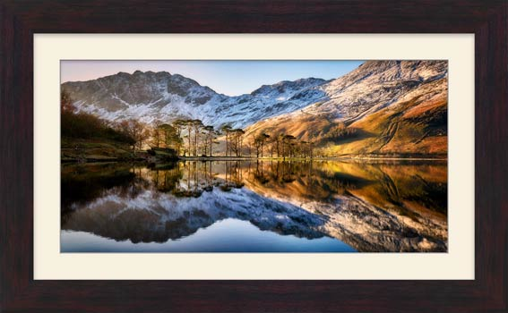 Winter Reflections Buttermere - Framed Print