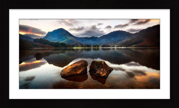 Buttermere Rocks - Framed Print